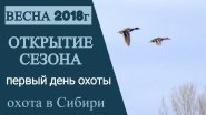 Открытие весенней охоты. 2018г.