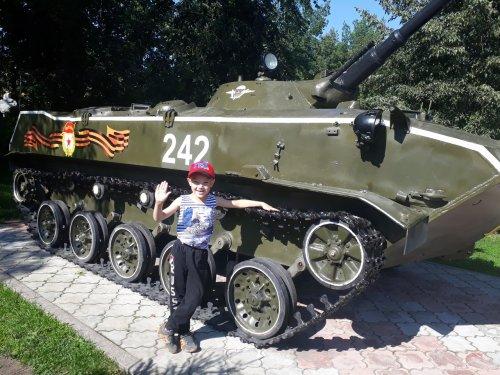 Мой внук - будущий боец!