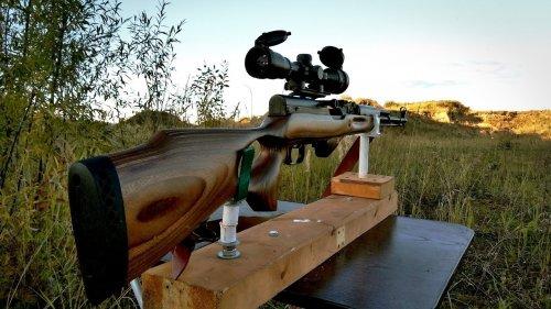 Пристрелка карабина СКС. Установка кронштейна и оптики