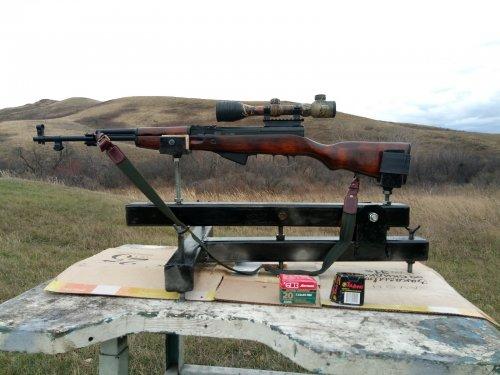 Пристрелка новенького СКС