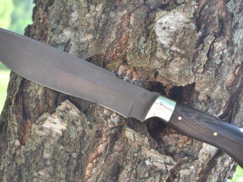 Нож Бизон сталь Булат цельнометаллический