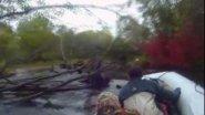 Драйв под водометом в дебрях горной реки