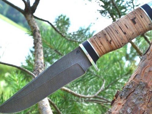 Нож Егерь сталь Дамаск