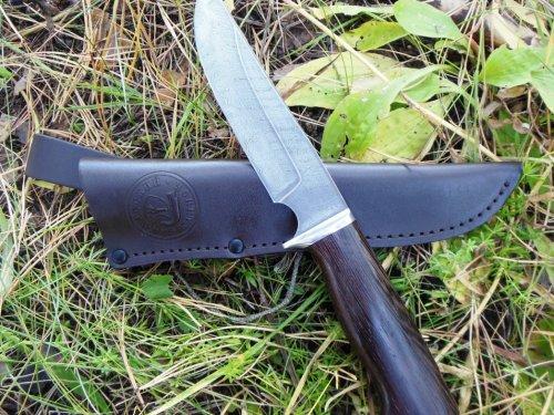 Нож Сапсан, дамаск, венге