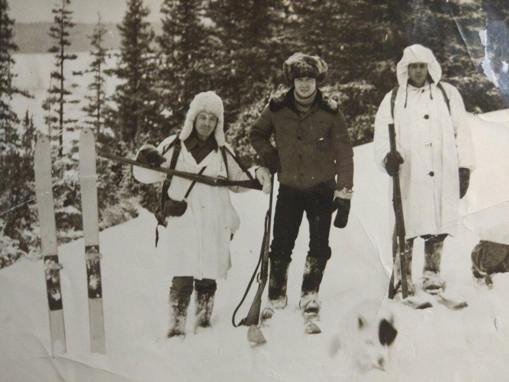 На охоте 1971г
