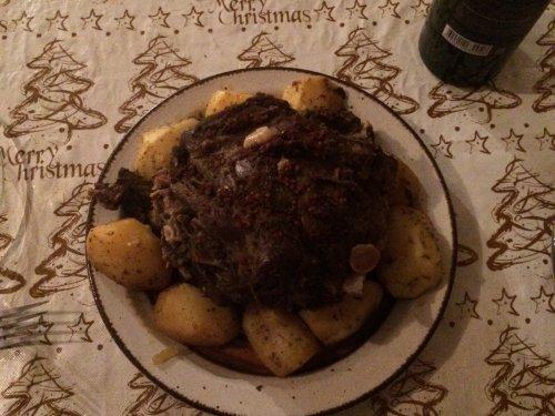 Тренируюсь перед Новым годом, приготовление блюда из косули.