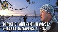 Отпуск в тайге с Сергеем Таёжным/Охота/Рыбалка/Лютый мороз