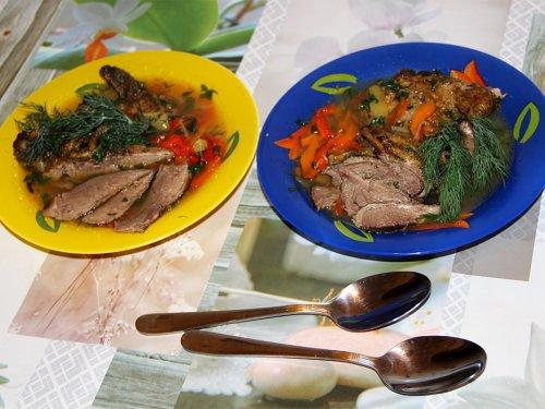 Тетерева, тушеные с овощами - рецепт дилетанта