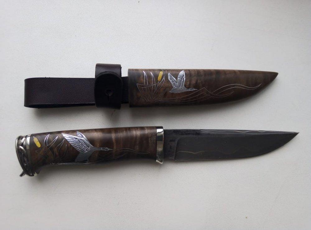 Нож Тигр в деревянных ножнах