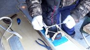 Крепления на охотничьи лыжи. Всё просто, надёжно и удобно