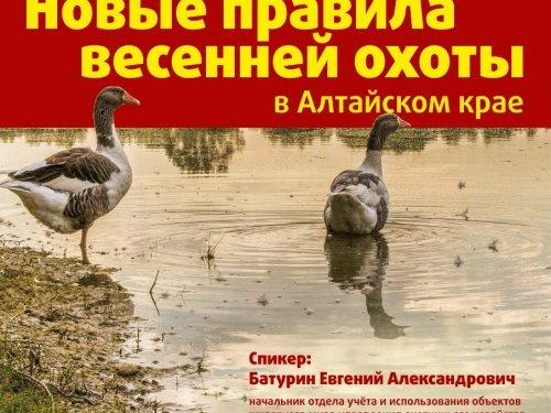 О новых правилах открытия весенней охоты на дичь в Алтайском крае