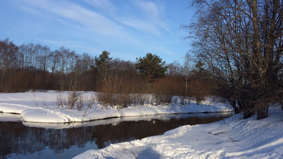Речка зимой..