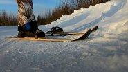 Как ведут себя полупластиковые лыжи в морозную погоду