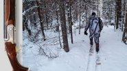 Три дня в заброшенной деревне. Охотничьи лыжи и крепления - тест дилетанта