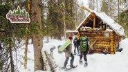 Поход в лес с опытными походниками.  Апрельское безумие.  Лесная изба.