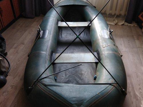 Скрадок из надувной лодки.