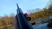 Выстрел по утке на 70 метров! Калибр 12x76