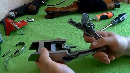 ТОЗ 34Р. Снятие УСМ. Разбор коробки ружья