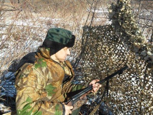 Маскировочная сеть Тайга (Весенняя утка) - охота и первые трофеи.