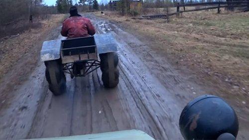 Самодельный трицикл - тест драйв. Аппарат не едет