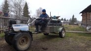 Мотоблок на колёсах от волги. Обзор