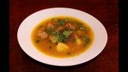 Рецепт горохового супа, который готовится очень быстро.