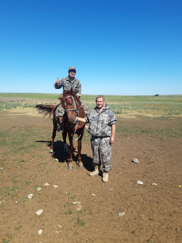 В степях Казахстана...
