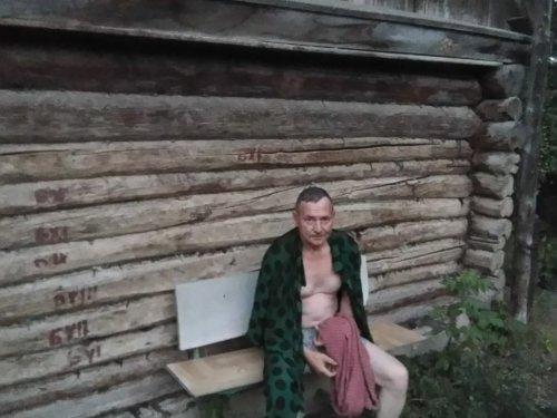 Сибирский сруб бани в казахстанских степях)))