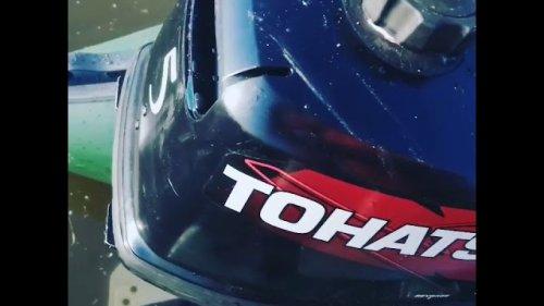 Ремонт горловины у лодочного мотора tohatsu 5