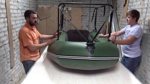 Установка скрадка на лодку ПВХ