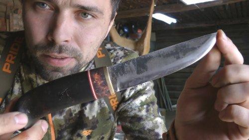 ОБЗОР и ТЕСТ ножа на охоте Мистер Черный от Алексея Мельницкого.