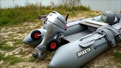 НОВЫЙ мотор Honda BF10DK2 SHU и Ракета РЛ-350 first run new engine