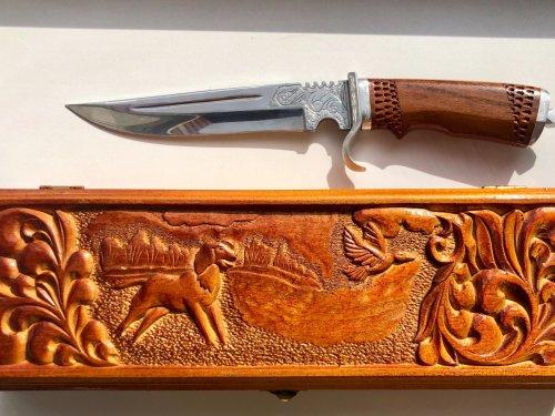 Нож ручной работы дамасская сталь