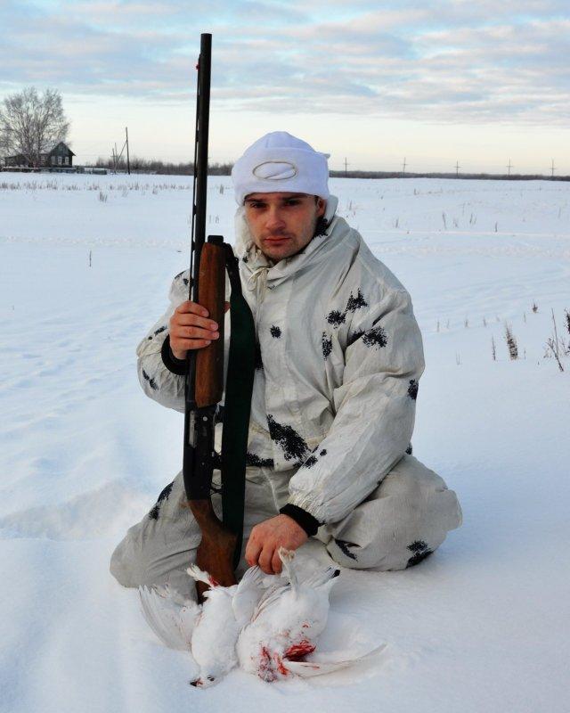 Охота зимой.