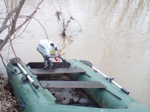 Лодка тулин 240, хонда 2.3.