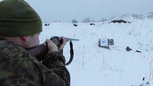 Ружье ИЖ-54. Стрельба дробью на 30 и 50 метров, с разных стволов.