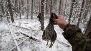 В тайгу по первому снегу. Охота на боровую дичь.