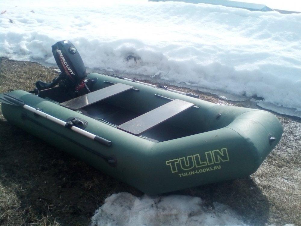 Лодка тулин 240, лодочный мотор меркурий 3.3
