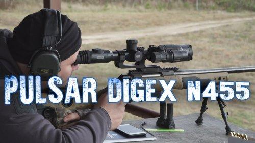 Pulsar Digex N455, обзор ночного прицела, пристрелка на 100, стрельба на 300, ночные стрельбы.