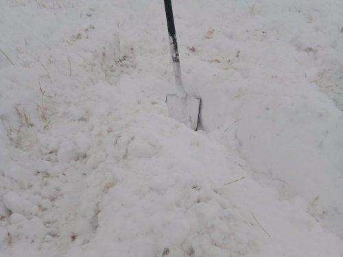 Все забито снегом!