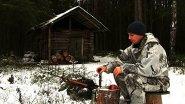 Зимняя охота на севере. По волчьим следам. Встреча с выдрой