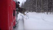 Испытание нового снегохода тайгой. 4 дня в тайге. Глухарь взят. Часть 1