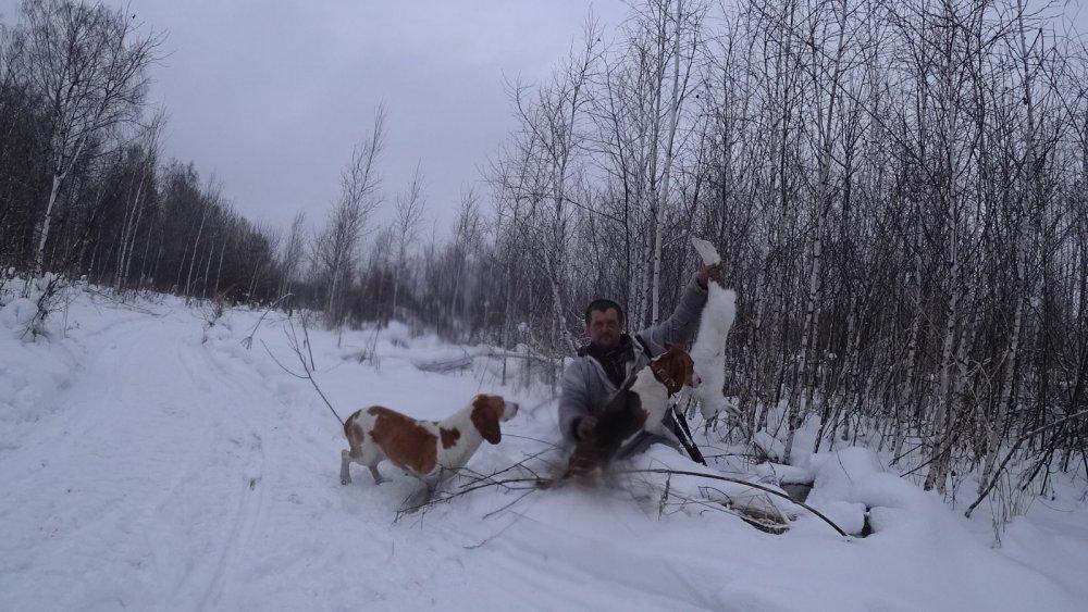 охота в дождь и снег