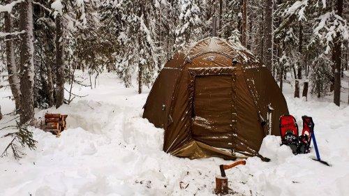 Ушёл от людей в зимний лес на два дня с палаткой. Перезагрузка души и тела