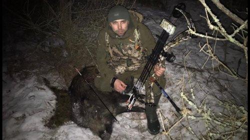 Охота с блочным луком Kinetic Heretik на кабана в Республике Беларусь  Розыгрышь лука!
