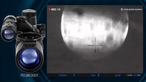 Охота с ночным прицелом Pulsar Digex. Видео с реальной охоты.