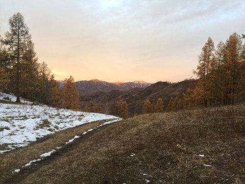 Утро в горах Онгудая