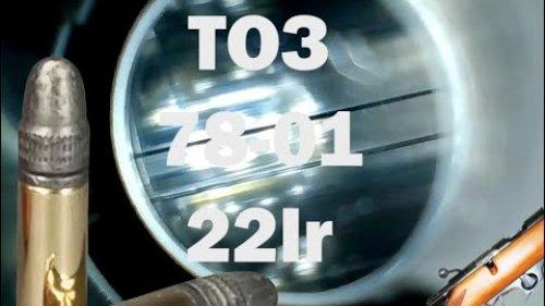 Осмотр бороскопом мелкана ТОЗ-78-01 в калибре 22lr