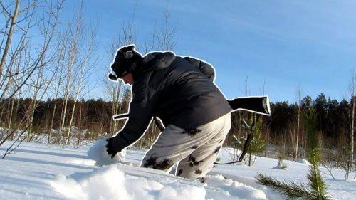 Охота на тетерева по уши в снегу. Ловлю косача руками. Фарт или закономерность? Охота на лунках.