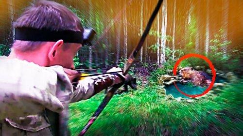 Охота на бобра весной 2020 [ охота на бобра с арбалетом или охота с луком ] @Always Alone